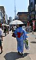 Annual ground cherry fair at Sensoji Temple