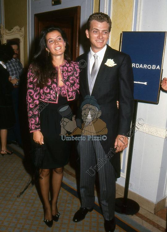 GIULIA REBECCHINI E GUIDO TORLONIA<br /> PREMIO CONDOTTI - SCALINATA TRINITA' DEI MONTI ROMA 1987