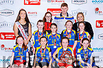The Kilmurry  NS team that  defeated Curranes NS in the Junior NS Girls final  at the St Marys Basketball Blitz on Monday front row l-r: Ciara Kerins, Ella Greaney, Leah Griffin, Alana Kelliher, Ciara Costello, Anna McCarthy, Julia Donegan, Rachel O'Donoghue, Back row: Paris McCarthy Miss Basketball Laura and Eamon John O'Donoghue,  and Therese Healy