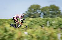 Wout Poels (NED/Bahrain - Victorious)<br /> <br /> Stage 20 (ITT) from Libourne to Saint-Émilion (30.8km)<br /> 108th Tour de France 2021 (2.UWT)<br /> <br /> ©kramon