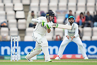 Tom Latham, New Zealand drives into the off side during India vs New Zealand, ICC World Test Championship Final Cricket at The Hampshire Bowl on 20th June 2021