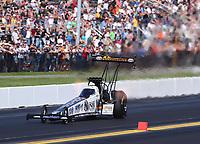 Sep 15, 2019; Mohnton, PA, USA; NHRA top fuel driver Austin Prock during the Reading Nationals at Maple Grove Raceway. Mandatory Credit: Mark J. Rebilas-USA TODAY Sports