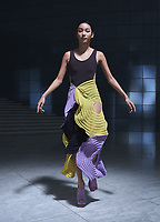Issey Miyake  S/S 22 womenswear collection Ready-to-Wear catwalk Fashion Show at Paris Fashion Week, France in October 2021.<br /> Editorial use only<br /> CAP/PLF<br /> Image supplied by Capital Pictures