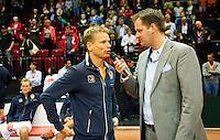 15-sept.-2013,Netherlands, Groningen,  Martini Plaza, Tennis, DavisCup Netherlands-Austria, Interview Jan Siemerink<br /> Photo: Henk Koster
