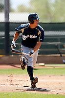 Brett Lawrie  - Milwaukee Brewers - 2009 spring training.Photo by:  Bill Mitchell/Four Seam Images