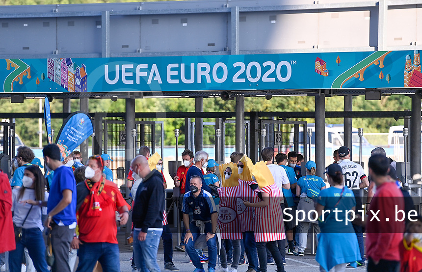 illustration picture showing the UEFA Euro 2020 boarding in Munich during a soccer game during the quarter final Euro 2020 European Championship between the Belgian national soccer team Red Devils and Italy , called the Azzurri , on friday 2 nd of July 2021  in the Allianz Arena in Munchen , Germany . PHOTO SPORTPIX | SPP | DAVID CATRY