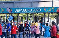 illustration picture showing the UEFA Euro 2020 boarding in Munich during a soccer game during the quarter final Euro 2020 European Championship between the Belgian national soccer team Red Devils and Italy , called the Azzurri , on friday 2 nd of July 2021  in the Allianz Arena in Munchen , Germany . PHOTO SPORTPIX   SPP   DAVID CATRY