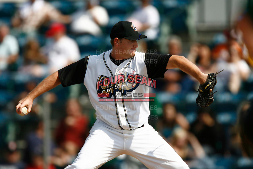 May 20, 2007: Tim Mattison of the Rancho Cucamonga Quakes pitches against the Visalia Oaks at The Epicenter in Rancho Cucamonga,CA.  Photo by Larry Goren/Four Seam Images