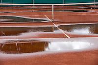 26-08-12, Netherlands, Amstelveen, Tennis, NVK, rain on clay court