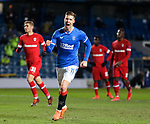 25.02.2021 Rangers v Royal Antwerp: Cedric Itten celebrates his goal