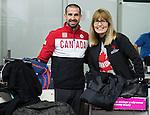 Benoit Huot and Karen O'Neill, Sochi 2014.<br /> Team Canada arrives at the airport in Sochi for the Sochi 2014 Paralympic Winter // Équipe Canada arrive à l'aéroport de Sotchi pour Sochi 2014 Jeux paralympiques d'hiver. 05/03/2014.