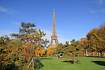Family at Champ du Mars and Eiffel Tower, Autumn, Paris, France, .  John offers private photo tours in Denver, Boulder and throughout Colorado, USA.  Year-round. .  John offers private photo tours in Denver, Boulder and throughout Colorado. Year-round.