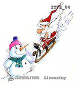 Fabrizio, Comics, CHRISTMAS SANTA, SNOWMAN, paintings, ITFZ04,#x# stickers Weihnachten, Navidad, illustrations, pinturas