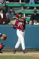 James Cooper of the Loyola Marymount Lions bats during a 2004 season game at Page Stadium, in Los Angeles, California. (Larry Goren/Four Seam Images)