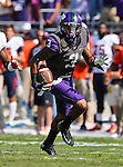 TCU Horned Frogs wide receiver Brandon Carter (3) in action during the game between the Virginia Cavaliers and the TCU Horned Frogs  at the Amon G. Carter Stadium in Fort Worth, Texas. TCU defeats Virginia 27 to 7...