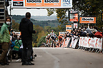 Marc Hirschi (SUI) Team Sunweb wins on the final climb up the Mur de Huy during La Fleche Wallonne 2020, running 202km from Herve to Mur de Huy, Belgium. 30th September 2020.<br /> Picture: ASO/Gautier Demouveaux   Cyclefile<br /> All photos usage must carry mandatory copyright credit (© Cyclefile   ASO/Gautier Demouveaux)