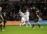 Barclays Premier League, Swansea City (White) V Norwich City (black) Liberty Stadium, Swansea, 08/12/12<br /> Pictured: Danny Graham extatic after the Swans score a second goal.<br /> Picture by: Ben Wyeth / Athena <br /> Athena Picture Agency<br /> info@athena-pictures.com