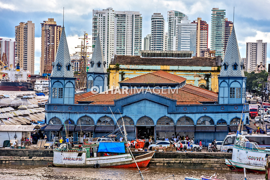 Mercado Ver O Peso e Baia de Guajara, Belem. Para. 2017. Foto Luciana Whitaker
