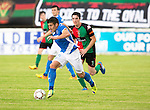 Glentoran v St Johnstone…. 09.07.16  The Oval, Belfast  Pre-Season Friendly<br />Michael Coulson pulls away from a Glentoran trialist<br />Picture by Graeme Hart.<br />Copyright Perthshire Picture Agency<br />Tel: 01738 623350  Mobile: 07990 594431