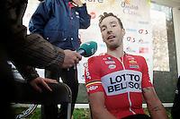 post-race interview with winner Kenny Dehaes (BEL)<br /> <br /> Nokere Koerse 2014