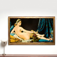 """Ingres: """"The Great Odalisque"""", Digital Print, Image Dims. 35.5"""" x 63"""", Framed Dims. 41"""" x 68.5"""""""