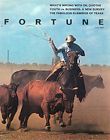 Fortune magazine cover, King Ranch, June 1969. Photo by John G. Zimmerman.