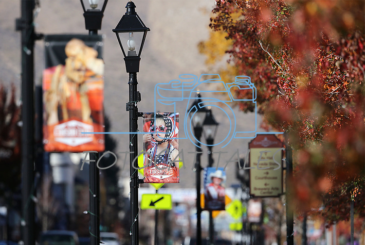 Downtown banners created by the Carson City Culture and Tourism Authority, seen Thursday, Oct. 26, 2017. <br /> Photo by Cathleen Allison/Nevada Momentum