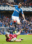Nicky Clark beaten by keeper Robbie Thomson