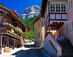 Italy, Trentino, Canazei: view at mountain Sass Pordoi