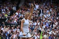 10th July 2021. Wilmbledon, SW London England. Wimbledon Tennis Championships 2021, Ladies singles final Ashleigh Barty versus  Karolina Pliskova (Czech);  Karolina Pliskova (Tch)