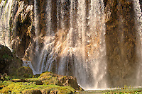 Waterfall over the travatine deposits of Plitvice. Plitvice ( Plitvika ) Lakes National Park, Croatia. A UNESCO World Heritage Site