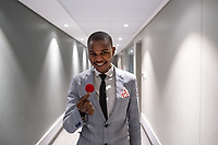 Illusionist Khanya Rubushe, a student of the Cape Town College of Magic, poses for a photo while preparing to perform an act at the Artscape Theatre.