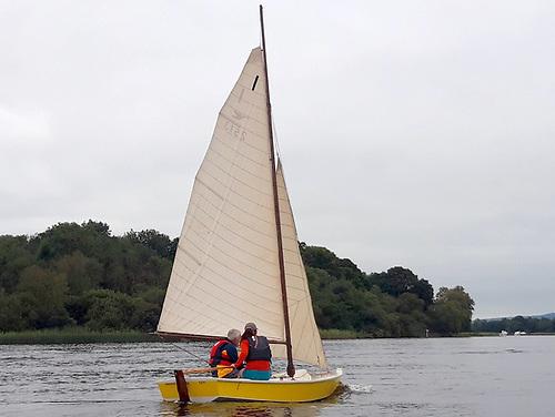Ranger approaching Trial Bay on Upper Lough Erne