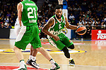 Unics Kazan's player Kostas Kaimakoglou and Keith Langford during match of Turkish Airlines Euroleague at Barclaycard Center in Madrid. November 24, Spain. 2016. (ALTERPHOTOS/BorjaB.Hojas)