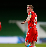 27th March 2021; Aviva Stadium, Dublin, Leinster, Ireland; 2022 World Cup Qualifier, Ireland versus Luxembourg; Luxembourg captain Laurent Jans questions a decision from the officials