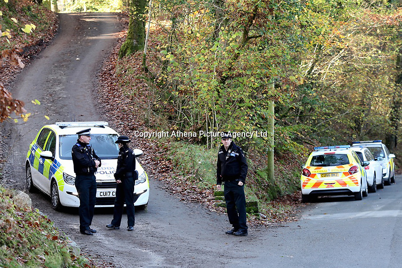 """Pictured: Police near the scene of a suspected house fire in Llangammarch Wells, mid Wales, UK<br /> Re: People are feared to have died in a serious house fire in Powys, Wales.<br /> Four fire crews were called to the property near Llangammarch Wells, between Llanwrtyd Wells and Builth Wells, just after midnight on Monday.<br /> Mid and West Wales Fire and Rescue Service said the blaze was """"well developed"""" when firefighters arrived at the scene.<br /> It is not known how many people may have been inside the house at the time of the blaze.<br /> A Welsh Ambulance Service spokesman said it sent its Hazardous Area Response Team, as well as four crews in emergency ambulances and an ambulance officer to the scene."""