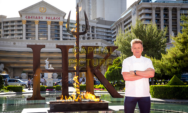 LAS VEGAS, NV - April 28, 2017: ***HOUSE COVERAGE*** Gordon Ramsay pictured as  Chef Gordon Ramsay announces the world's first Hell's Kitchen Restaurant at Caesars Palace in Las vegas, NV on April 28, 2017.<br /> CAP/MPI/EKP<br /> ©EKP/MPI/Capital Pictures