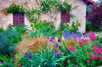 Gardens at the Carmel Mission. Carmel by the Sea, California.