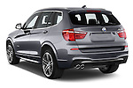 Car pictures of rear three quarter view of 2017 BMW X3 xDrive28d 5 Door SUV Angular Rear