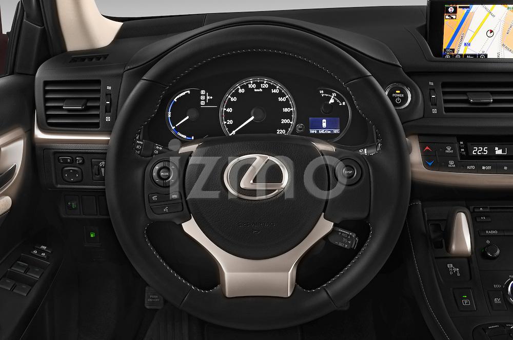 Car pictures of steering wheel view of a 2015 Lexus CT Executive 5 Door Hatchback 2WD Steering Wheel