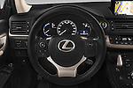 Car pictures of steering wheel view of a 2015 Lexus CT Executive 5 Door Hatchback 2WD Steering Wheel