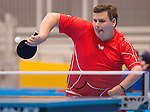 Toronto, ON - Aug 8 2015 -  Mikhail Drozdowski competes in Group A MS 11 table tennis in the ATOS Markham Parapan Centre during the Toronto 2015 Parapan American Games  (Photo: Matthew Murnaghan/Canadian Paralympic Committee)