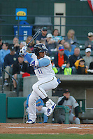 Myrtle Beach Pelicans shortstop Gleyber Torres (11) at bat during a game against the Frederick Keys at Ticketreturn.com Field at Pelicans Ballpark on April 8, 2016 in Myrtle Beach, South Carolina. Frederick defeated Myrtle Beach 5-2. (Robert Gurganus/Four Seam Images)