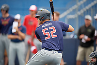 Victor Mederos (52) during the Under Armour All-America Game Practice, powered by Baseball Factory, on July 21, 2019 at Les Miller Field in Chicago, Illinois.  Victor Mederos attends Westminster Christian Academy in Miami, Florida and is committed to the University of Miami.  (Mike Janes/Four Seam Images)