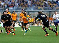 5th September 2021; Optus Stadium, Perth, Australia: Bledisloe Cup international rugby, Australia versus New Zealand; Nic White of the Australian Wallabies makes a break