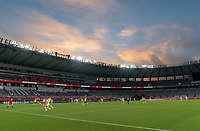 TOKYO, JAPAN - JULY 21: The USWNT and Sweden on the field at Tokyo Stadium during a game between Sweden and USWNT at Tokyo Stadium on July 21, 2021 in Tokyo, Japan.