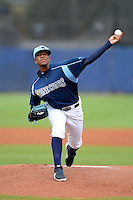 Charlotte Stone Crabs pitcher Felipe Rivero (29) during a game against the Daytona Cubs on July 19, 2013 at Charlotte Sports Park in Port Charlotte, Florida.  The game was called in the seventh inning tied at zero due to rain.  (Mike Janes/Four Seam Images)