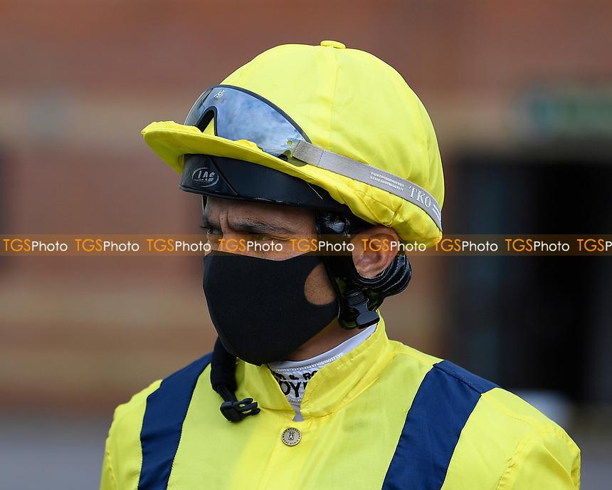 Jockey Sean Levey during Horse Racing at Salisbury Racecourse on 11th September 2020