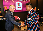 Kings College 1st XV Jersey Presentation at Bayleys Real Estate Head Office, Viaduct Harbour, Auckland, New Zealand. Wednesday 3 May 2017. Photo: Simon Watts/www.bwmedia.co.nz for Kings College