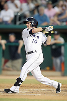 Steve Tolleson #10 of the Tucson Padres plays in a Pacific Coast League game against the Tacoma Rainiers at Kino Stadium on June 4, 2011  in Tucson, Arizona. .Photo by:  Bill Mitchell/Four Seam Images.